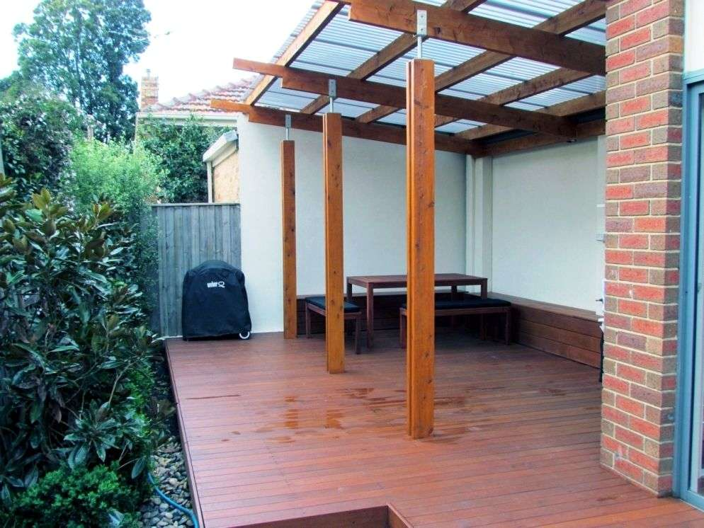 Modern verandah design with feature stirrups & double blade posts